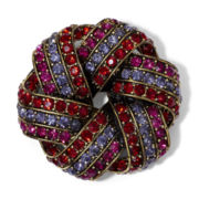 Monet® Tonal Red Crystal Cluster Pin in Box
