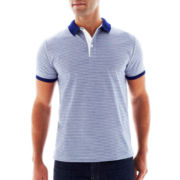 Claiborne Fine-Striped Polo Shirt
