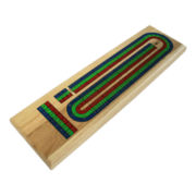 Tri-Color Wooden Cribbage Board