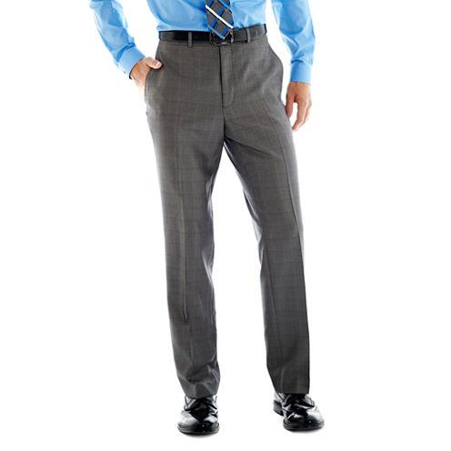 Billy London UK® Gray Basketweave Suit Pants