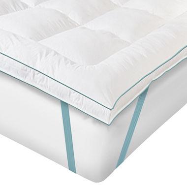 sensorpedic memoryloft gel infused memory foam and fiber mattress topper. Black Bedroom Furniture Sets. Home Design Ideas