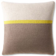 "Design by Conran Knitted Color Bars 18"" Square Decorative Pillow"