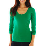 jcp™ Long-Sleeve V-Neck Tee - Talls