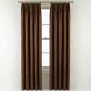 Royal Velvet® Dolce Ring-Top Pinch-Pleat Curtain Panel