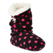 Polka Dot Bootie Slippers