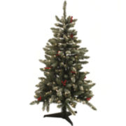 4.5' Pre-Lit Hampton Flocked Christmas Tree