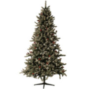 7.5' Pre-Lit Hampton Flocked Christmas Tree