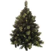 4.5' Mixed Cashmere Christmas Tree with LED Lights