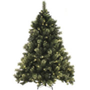 7.5' Mixed Cashmere Christmas Tree with LED Lights