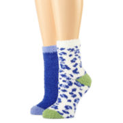 2-pk. Animal Print Cozy Crew Socks