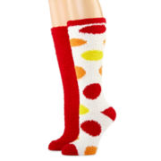 2-pk Cozy Knee-High Socks