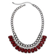 Decree® Red Stone Statement Necklace