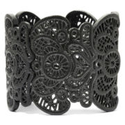 Decree® Black Lacy Filigree Stretch Bracelet