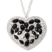 Decree® Black Heart Pendant Necklace