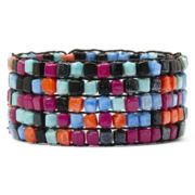 Decree® Multicolor Glass Bead Stretch Bracelet