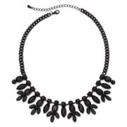 Decree® Black Stone Bib Necklace