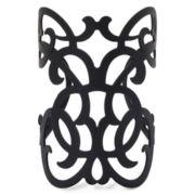Decree® Black Cutout Butterfly Cuff Bracelet