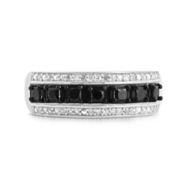 jcpenney.com | LIMITED QUANTITIES 1/7 CT. T.W. White and Color-Enhanced Black Diamond Sterling Silver Ring