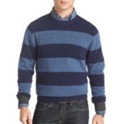 IZOD® Rugby-Striped Crewneck Sweater