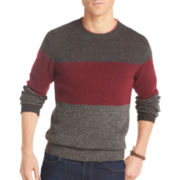 IZOD® Tri-Striped Crewneck Sweater