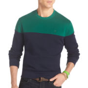 IZOD® Sueded Colorblock Fleece Pullover