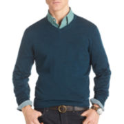 IZOD® Merino Wool-Blend V-Neck Sweater