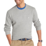 IZOD® Long-Sleeve Sueded Fleece Crewneck