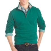 IZOD® Solid Quarter-Zip Fleece Pullover