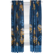 Minions Mishap Rod-Pocket Room-Darkening Curtain Panel