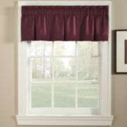 Pebble Rod-Pocket Inverted Pleat Valance
