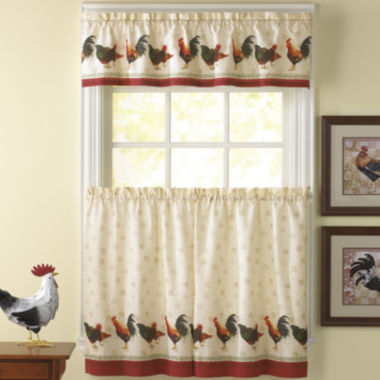 jcpenney.com | Morning Rooster 3-pc. Rod-Pocket Kitchen Curtain Set