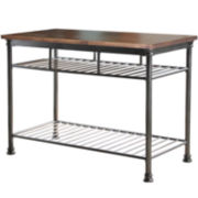Landry Wood-Top Kitchen Island