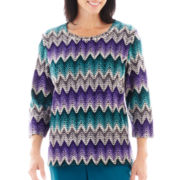 Alfred Dunner® Lake Ontario Zig-Zag Chenille Top