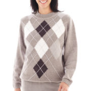 Alfred Dunner® Glacier Lake Long-Sleeve Argyle Chenille Top