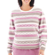 Alfred Dunner® Glacier Lake Long-Sleeve Chenille Top