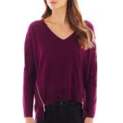 Bisou Bisou® High-Low Zipper Sweater