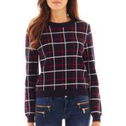 MNG by Mango® Long-Sleeve Plaid Sweater