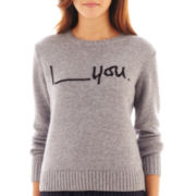 MNG by Mango® Long-Sleeve I 'Blank' You Sweater