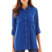 MNG By Mango® Long-Sleeve Button-Front Blouse