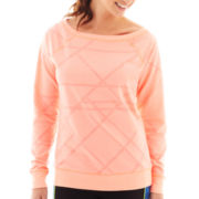 Xersion™ Long-Sleeve Burnout Sweatshirt