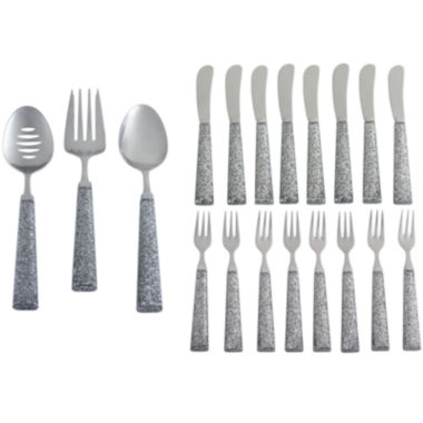 jcpenney.com | Cambridge® Sparkle 19-pc. Flatware Entertaining Set