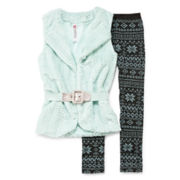 Knit Works 2-pc. Vest and Leggings Set - Girls 7-16