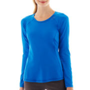 Xersion™ Long-Sleeve Performance Crewneck Tee - Solid