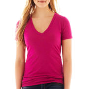 Arizona Short-Sleeve Solid V-Neck Tee