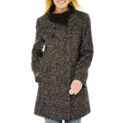 Worthington® Four-Button Babydoll Wool-Blend Coat