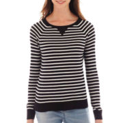 a.n.a® Long-Sleeve Striped Essential Crewneck Sweater