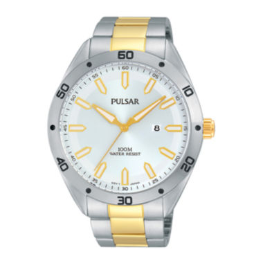 jcpenney.com | Pulsar® Mens Two-Tone Stainless Steel Watch PH9091X