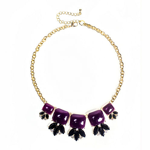 Mixit™ Purple and Black Stone Statement Necklace