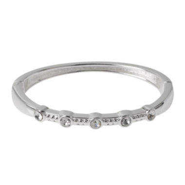 jcpenney.com | Dazzling Designs™ Crystal Pure Silver-Plated Bangle Bracelet