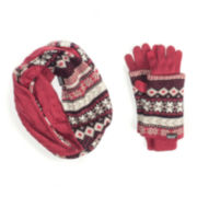 MUK LUKS® Reversible Scarf and Mittens Set